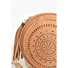 Navaho Cutout Detail Round Bag Tan