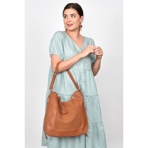 Mabel Panelled Shoulder Bag Tan