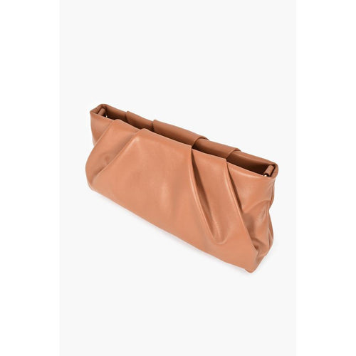 Caramel Pleat Top Cross Body Bag Toffee