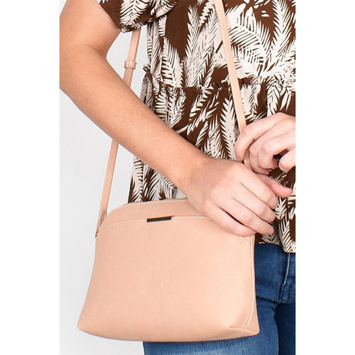 Cynthia Faux Suede Cross Body Bag Nude
