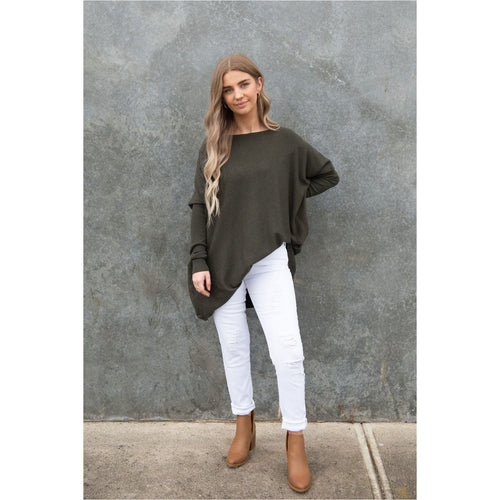 Aurora Knit Khaki-Harper & Co Boutique