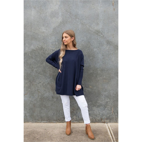 Aurora Knit Navy-Harper & Co Boutique
