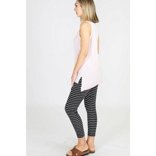 Bondi Pants Charcoal Stripe
