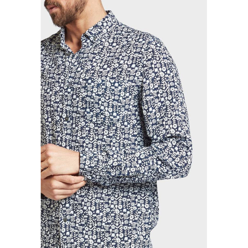 Burton Printed Shirt Navy