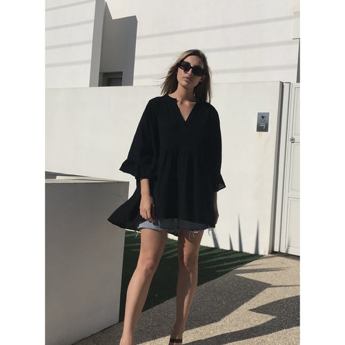 Cass Smock Top Black