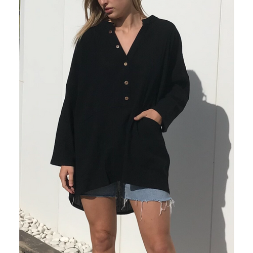 Cassidy Button Shirt Black