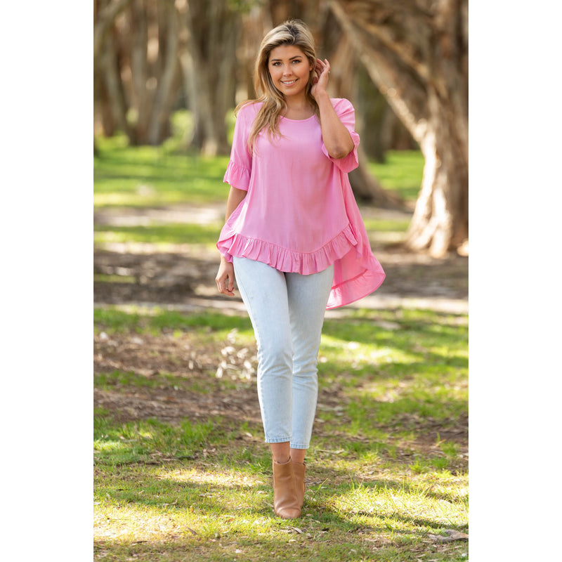 Cisco Frill Top Pink