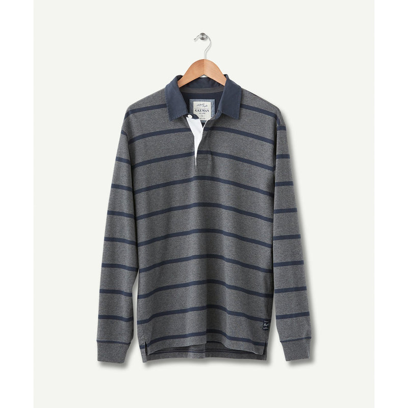 Classic Stripe Rugby Charcoal