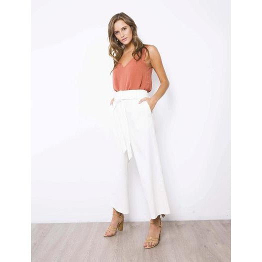 Daly Linen Culottes White