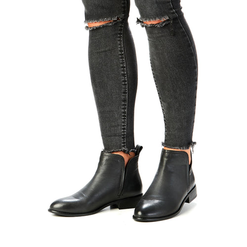 Douglas Leather Boot Black