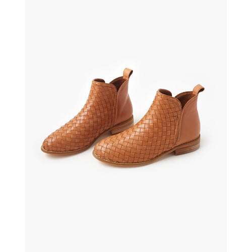 Douglas Weave Leather Boot Tan