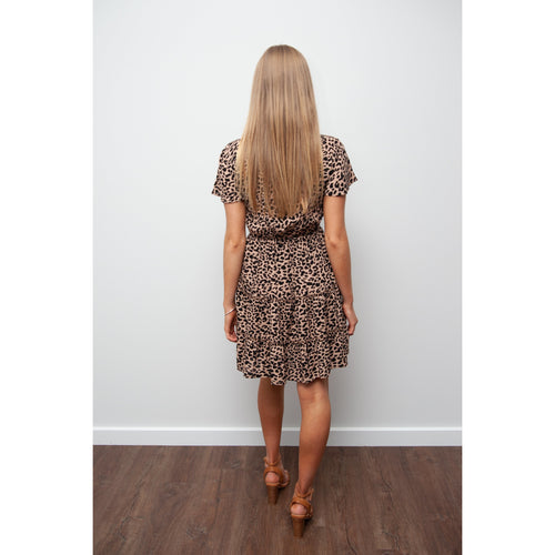 Emily Ruffle Leopard Dress