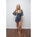 Halle Spot Playsuit Navy