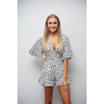 Halle Spot Playsuit White
