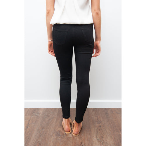 Harper High Rise Jean Black