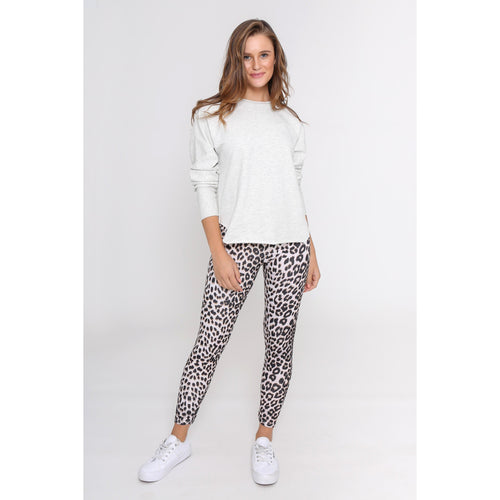 Hutton Leopard Jeggings Grey