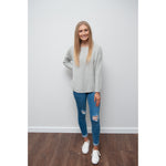 Libby Zip Back Knit Grey