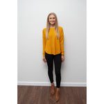 Libby Zip Back Knit Mustard