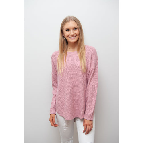Libby Zip Back Knit Pink
