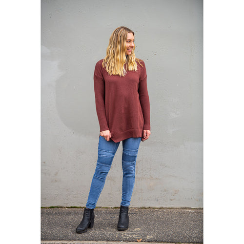 Lola Roll Neck Jumper Chocolate