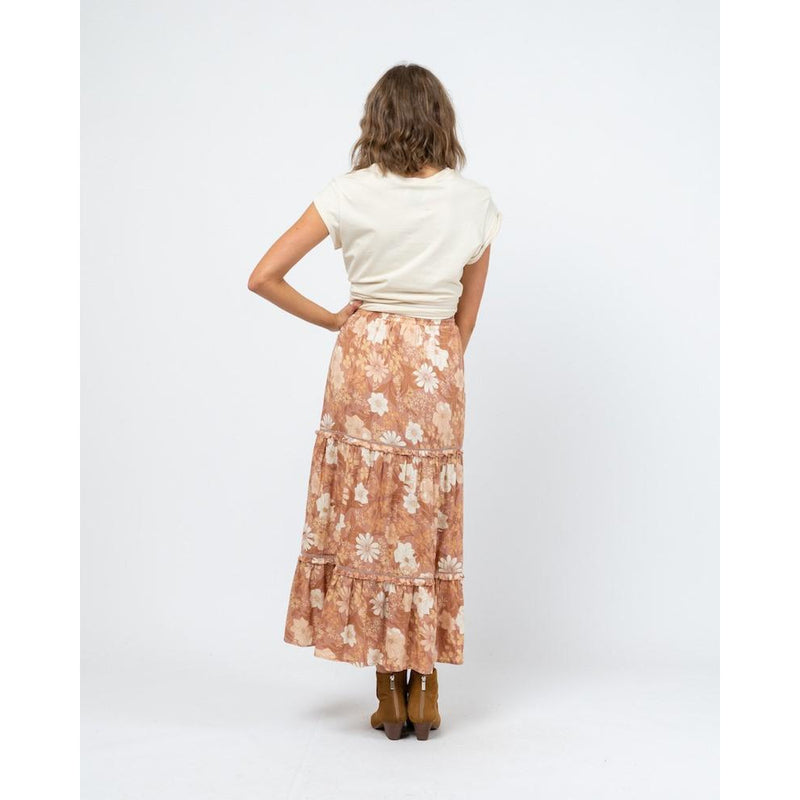 Meika Boho Skirt Rust