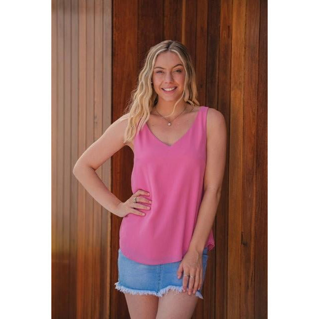 Myla Double Layer Tank Pink