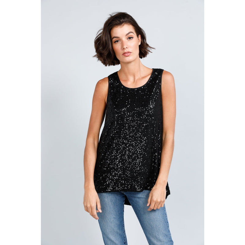 Numinous Top Black Sparkle