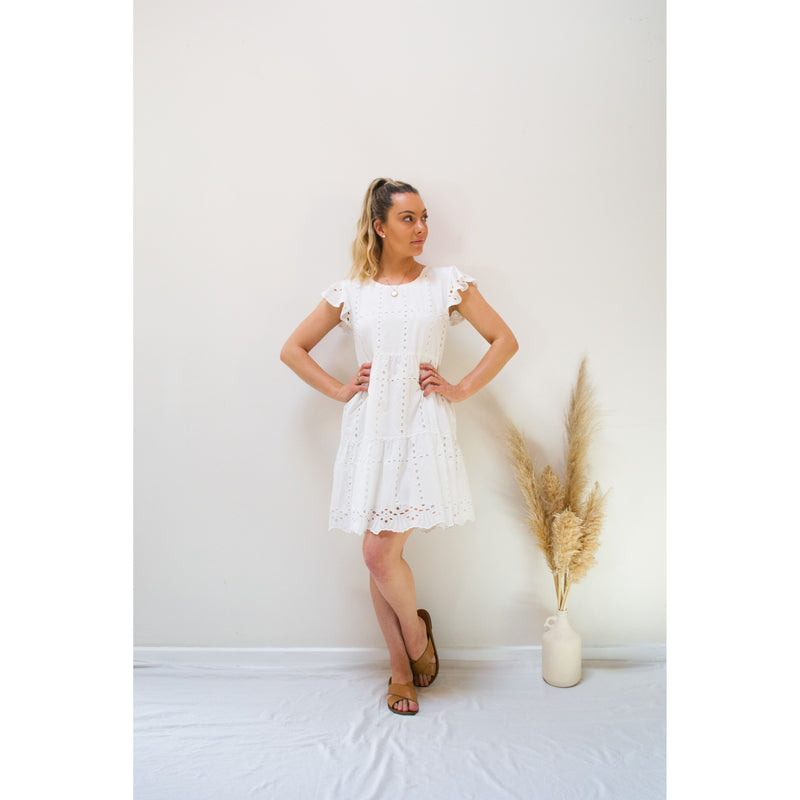 Olivia Baby Doll Dress White