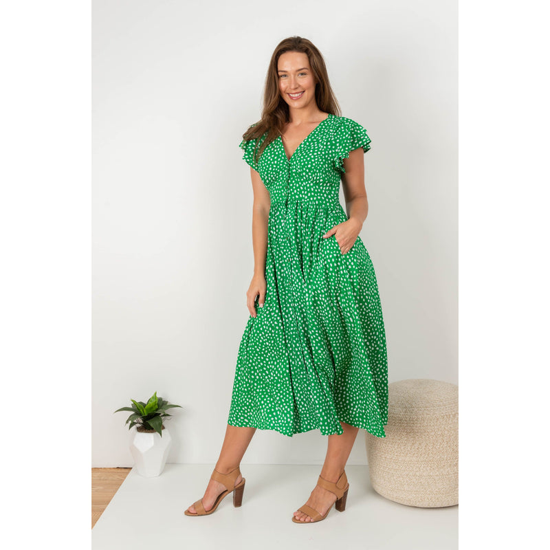 Sabar Midi Dress Green