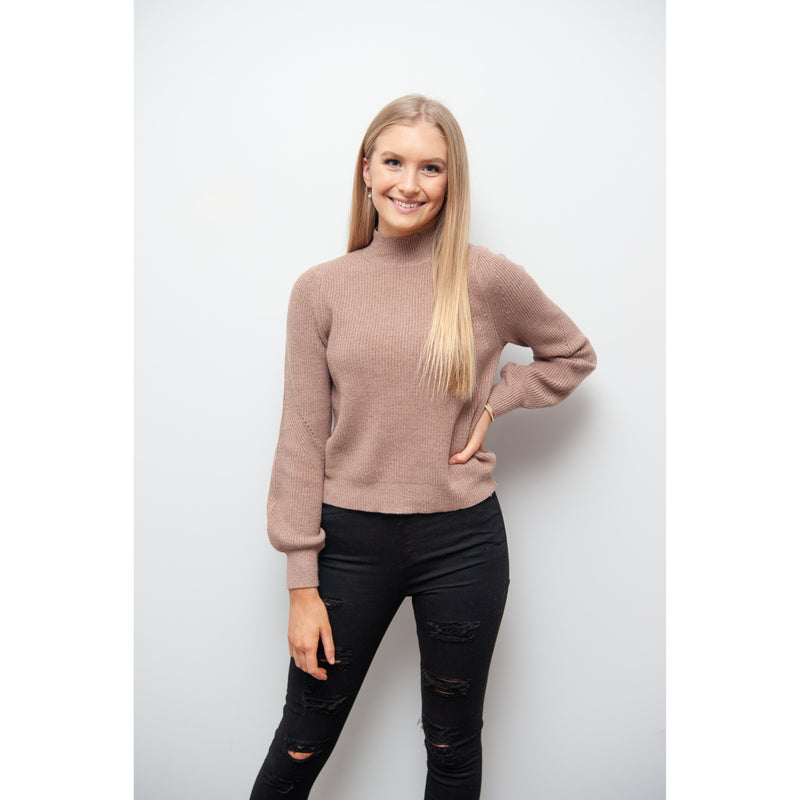 Sadie Roll Neck Knit Rose