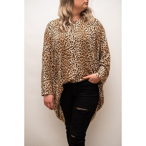 Sally Leopard Top