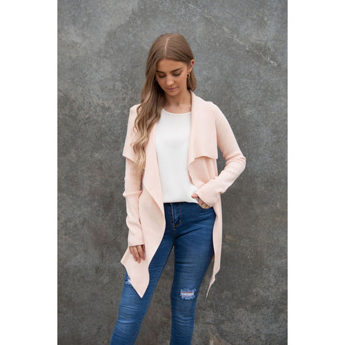 Short Basic Cardi Blush