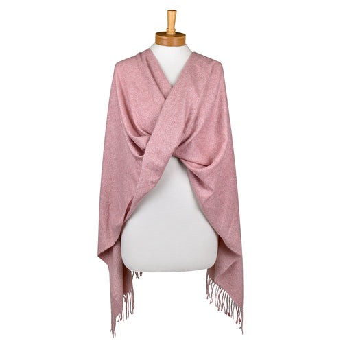 Plain Scarf Winter Pink