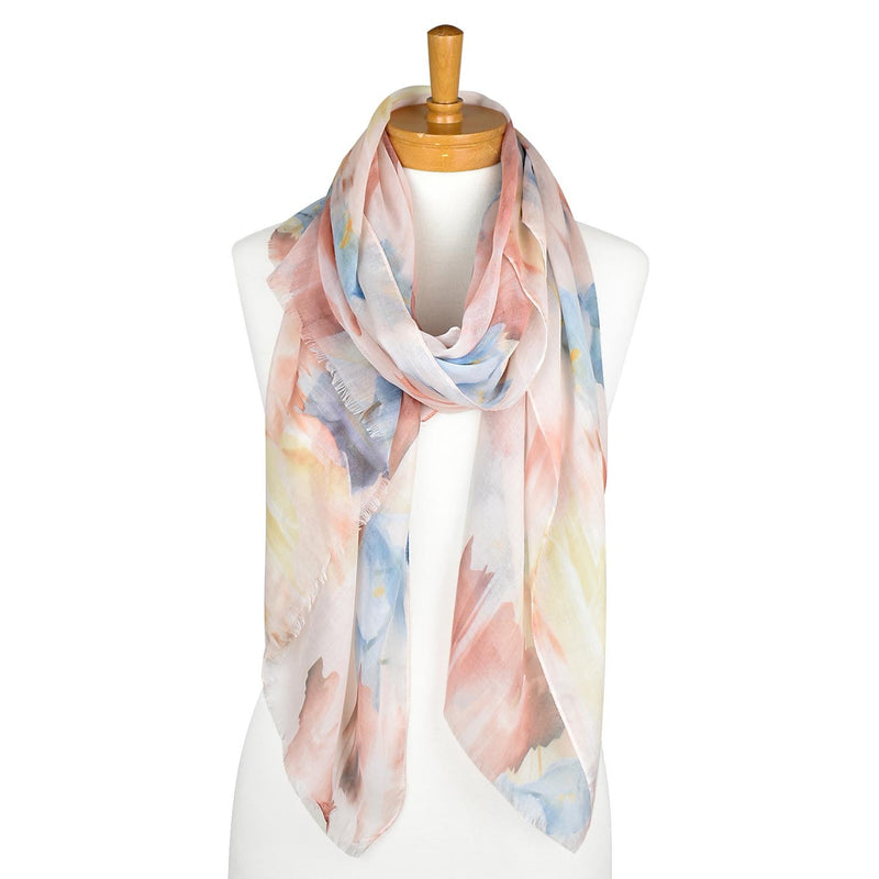 Paint Strokes Scarf Rust