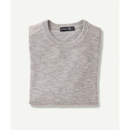 Textured Cotton Crew Grey