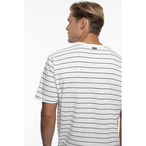 The Basic Stripe Tee White