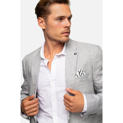 The Pilmico Linen Blazer Grey