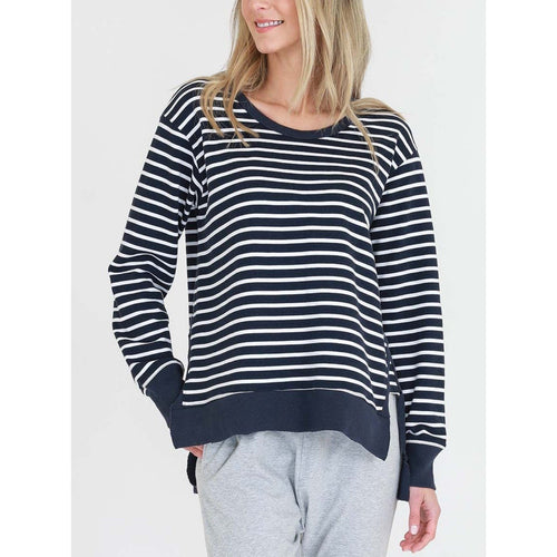 Ulverstone Sweater Indigo Stripe