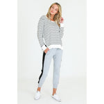 Ulverstone Sweater White Stripe