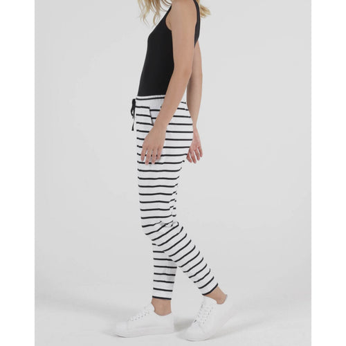 Heidi Pant White/Black Stripe