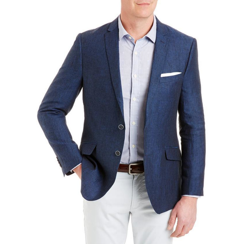 Tailored Fit Linen Sports Coat