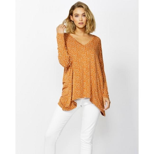 Geneva V-Neck Top Clay