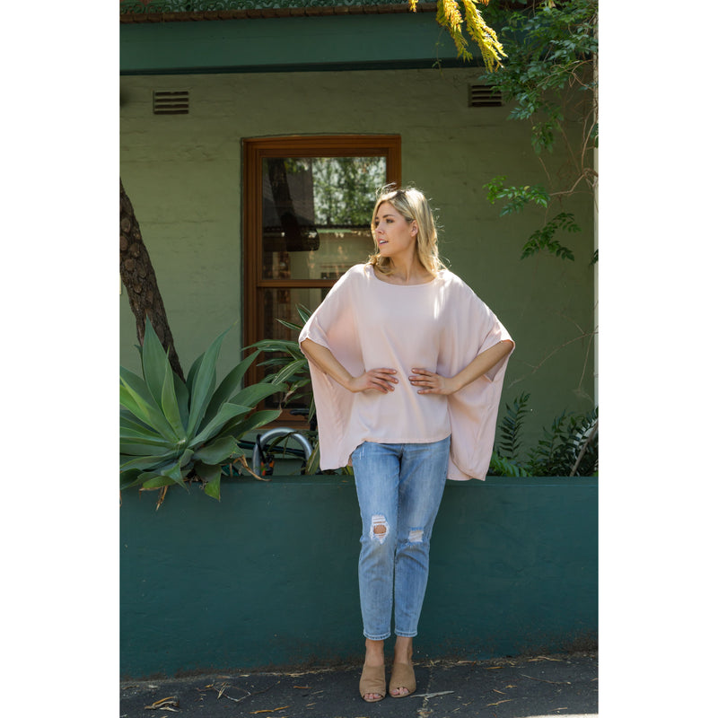 Sim Drape Top Blush