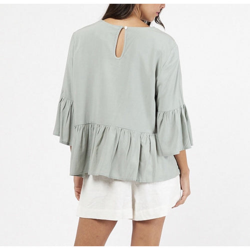 Charlotte Frill Top Sage