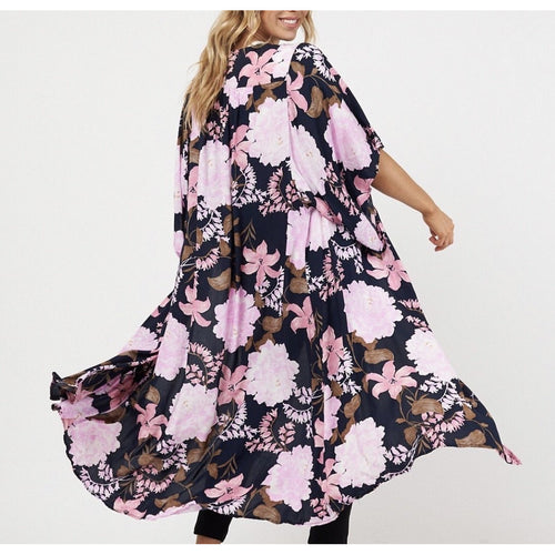 Emily Floral Cape Navy