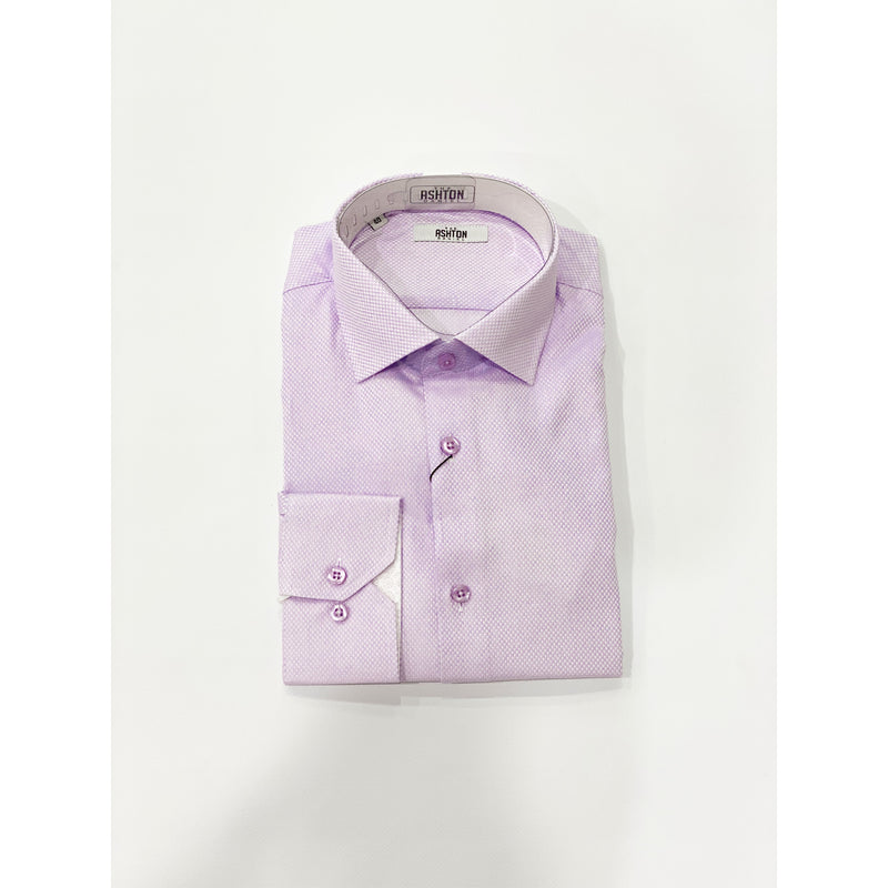 A&D Long Sleeve Dress Shirt Purple
