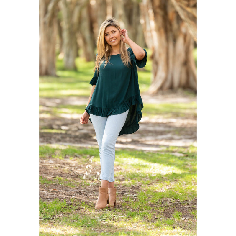 Cisco Frill Top Emerald