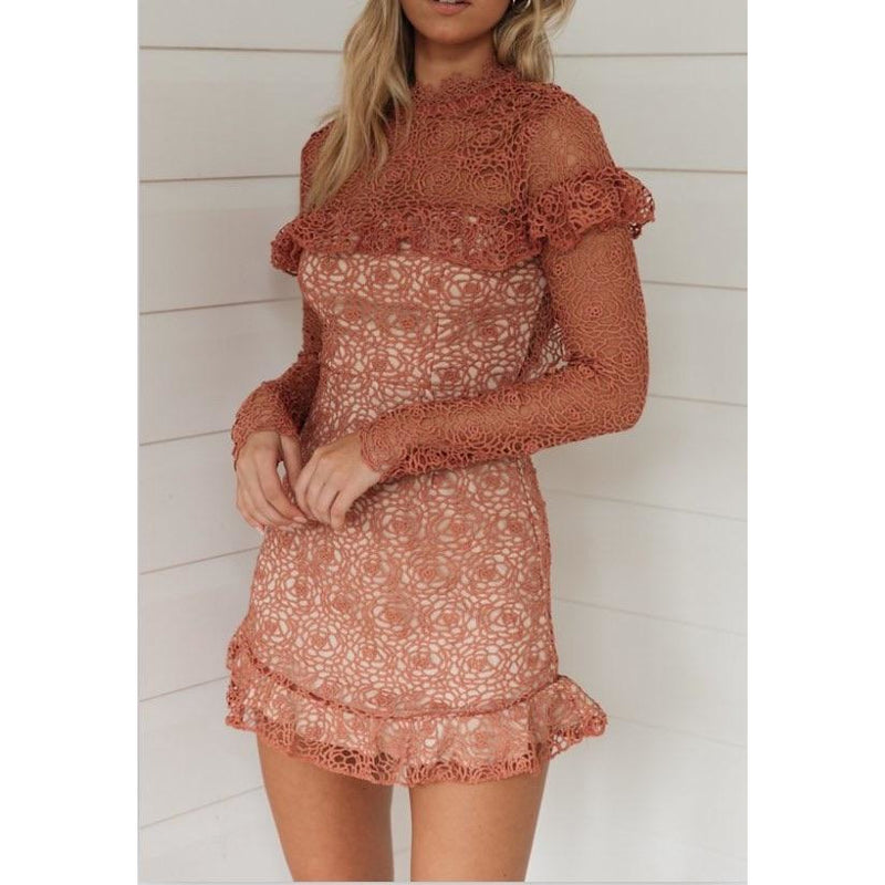 Camilla Lace Dress Rose