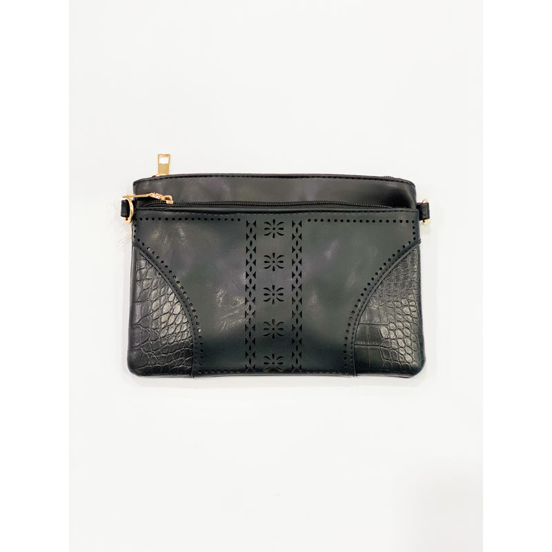 Double Zip Black Bag