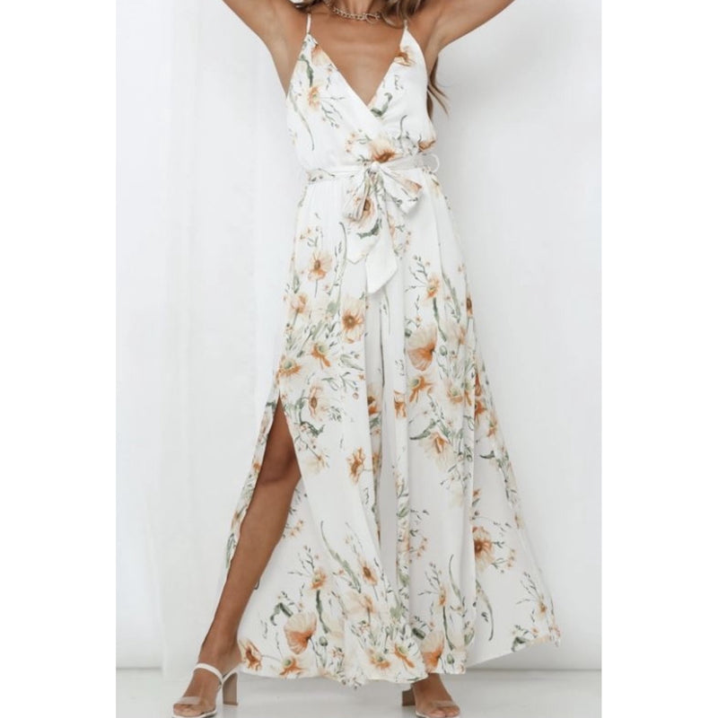 Nelly Floral Jumpsuit White